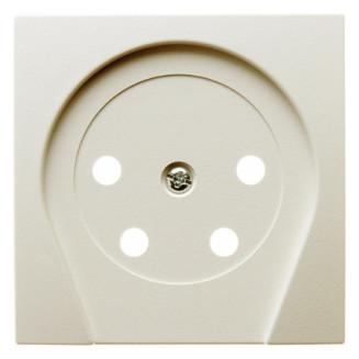 Berker   Centraalplaat voor telefoonstekker KPN 4-polig   S.1/B.3/B.7 Crème Wit Glanzend   6110368982