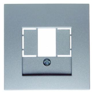 Berker | Centraalplaat voor USB / Luidsprekeraansluiting | S.1/B.3/B.7 aluminium | 10331404