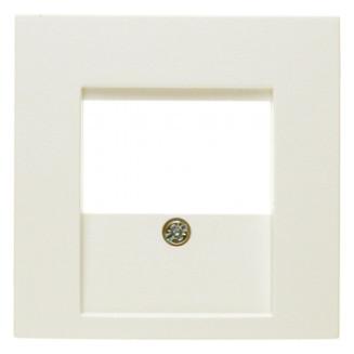 Berker   Centraalplaat voor USB / Luidsprekeraansluiting   S.1/B.3/B.7 Crème wit glanzend   10338912