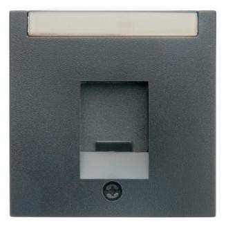 Berker   Centraalplaat modular jack 1-voudig   S.1/B.3/B.7 antraciet   11701606