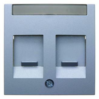 Berker | Centraalplaat modular jack 2-voudig | S.1/B.3/B.7 Aluminium Mat | 11811404