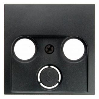 Berker | Centraalplaat voor coax/antenne wandcontactdoos | S.1/B.3/B.7 antraciet | 12031606