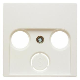 Berker   Centraalplaat voor coax/antenne wandcontactdoos   S.1/B.3/B.7 Crème Wit Glanzend   12038982