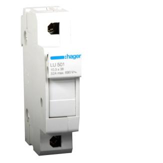 HAGER LU501 SMELTPATROONHOUDER L38 1P 25 A