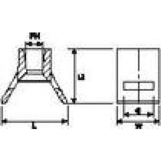 HELLERMANN LOK02-PA66-BK-C1 BEVESTIGINGSELEMENT VOOR EXTRA