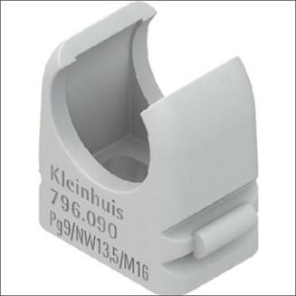 KLEINHUIS 796.090 DRUKZADEL 16MM GRIJS