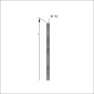 NIEDAX VPD10 DRAADPENDEL M10X1M