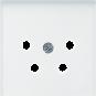 Jung   Centraalplaat voor telefoon 4-polig   AS500 Alpine wit   A 561 NTF WW
