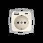 Wandcontactdoos met dubbele USB (A+C) aansluiting - inCharge PRO SI - Crème wit