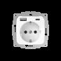 Wandcontactdoos met dubbele USB (A+C) aansluiting - inCharge PRO SI - Glanzend wit